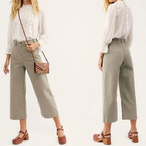 Free People Patti Wide Leg Cropped Pant